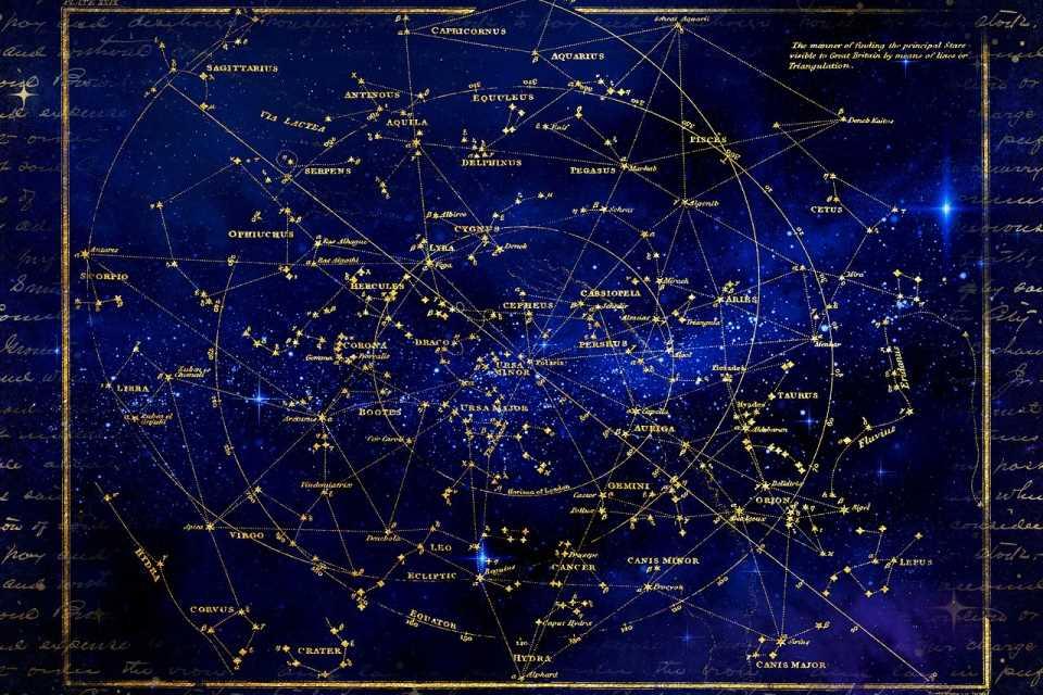 Карта звёзд. Созвездия. Гороскоп